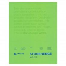 Stonehenge : Bloc Papier Art de Qualité  : 20x30cm : 15 Feuilles : Blanc : Surface Lisse / Fini Vélin