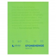 Stonehenge : Bloc Papier Art de Qualité  : 28x35cm : 15 Feuilles : Blanc : Surface Lisse / Fini Vélin