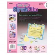 Grafix : Inkjet : Film Rétrécissant Imprimable : A4 : 6 Pack : Blanc