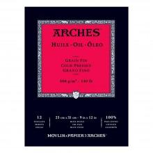 Arches : Huile : Papier Peinture à l'Huile : Bloc : 20x30cm : 300gsm : Grain Fin