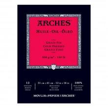 Arches : Huile : Papier Peinture à l'Huile : Bloc : 30x40cm : 300gsm : Grain Fin