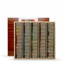 Sennelier : Pastel à l'Huile : Boite en Bois : Lot de 120: Wooden Box Set of 120