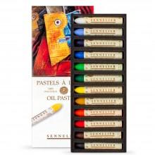 Sennelier Huile Pastels - Cardboard Box Set 12 Assorted