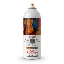 Sennelier : Oil Pastel Aerosol Fixative : 400ml : Ship By Road Only
