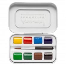 Sennelier : Watercolour Paint : Aqua Mini Set Of 8 Half Pans