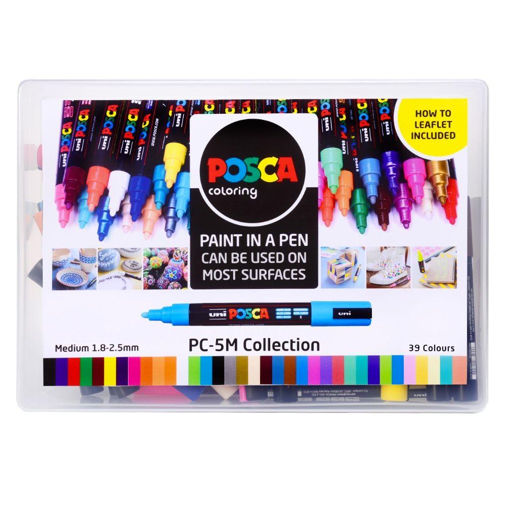 33 X Marcadores De Pintura pigmento a base de agua Uni Posca Colección PC-8K 8 Mm Nuevo En Caja
