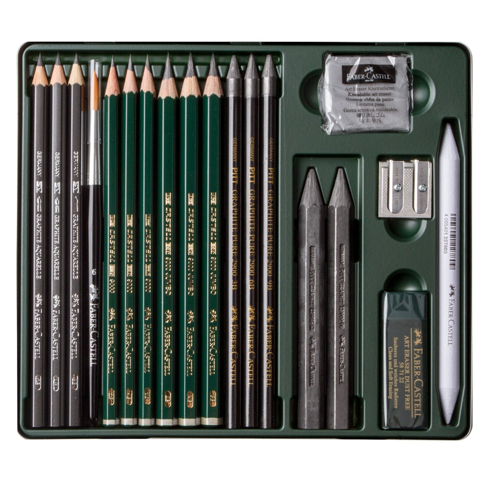 Faber Castell Polychromos 120 Lápiz Metal Tin Set