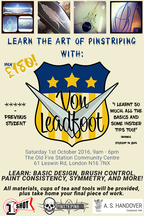Learn Pinstriping with Von Leadfoot